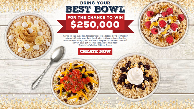 "Quaker ""Bring Your Best Bowl"" Contest"