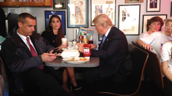Donald Trump Red Arrow Diner
