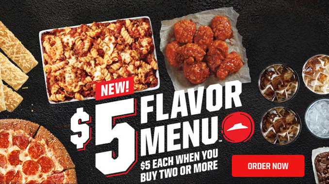 Pizza Hut $5 Flavor Menu