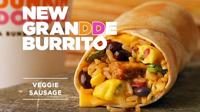 Dunkin' Donuts launches new GranDDe Burrito breakfast burrito