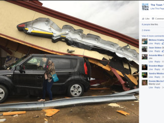 Pizza Hut collapses on Mandy Supple's car