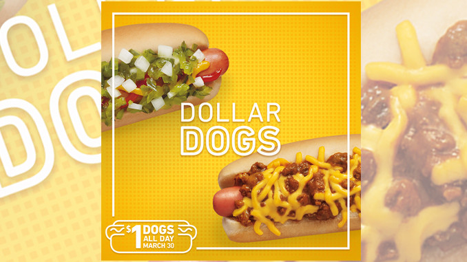 $1 Hot Dogs at Sonic on March 30, 2016