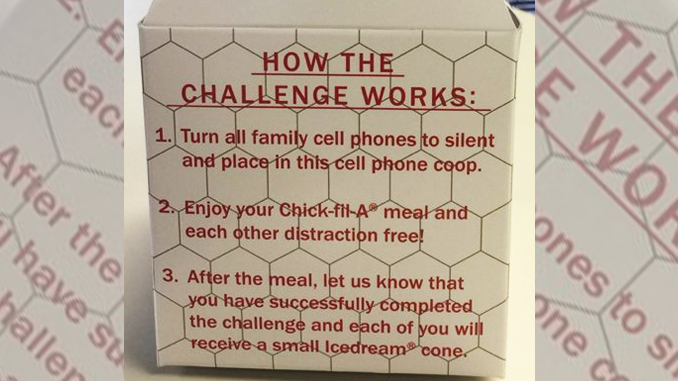 Chick-fil-A cell phone coop