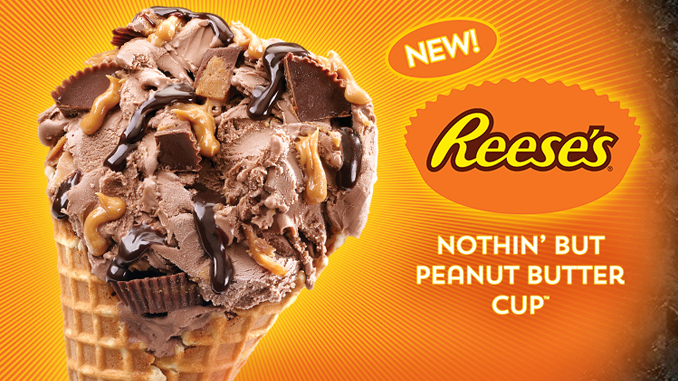 Reese's Peanut Butter Cup Ice Cream by Cold Stone Creamery