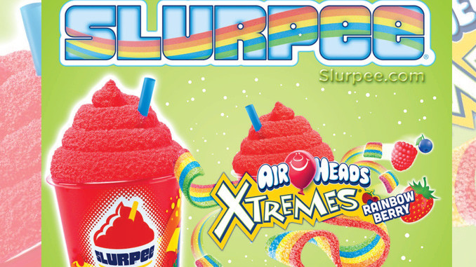 7-Eleven launches Airheads Xtremes Rainbow Berry Slurpee