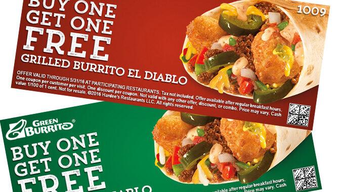 Carl's Jr. and Hardee's BOGO deal on new Burrito El Diablo