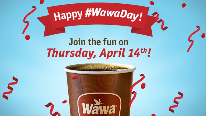 Free coffee at Wawa on April 14, 2016