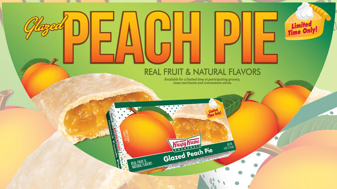 Krispy Kreme brings back Glazed Peach Pies for a limited time