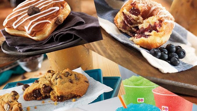 Dunkin' Donuts offering new Chocolate Chip Cookie, 2 new donuts and Coolatta drink