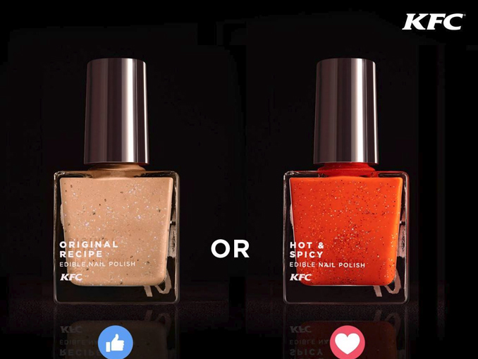 Edible KFC chicken flavored nail polish is a real thing - Chew Boom