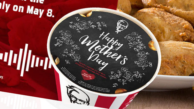 KFC Canada's Mother's Day bucket records your message to Mom