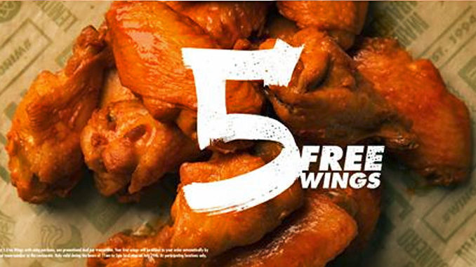 5 Free Wings at Wingstop with Any Wing Purchase on July 29, 2016