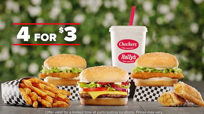 Checkers and Rally's Launches 4 for $3 Meal Deal