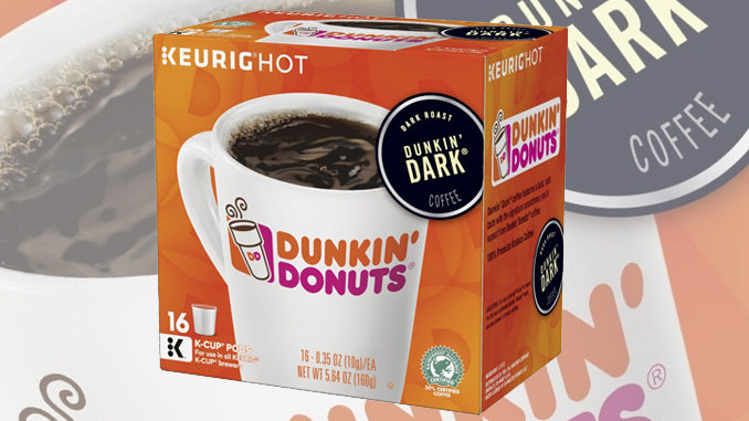Dunkin' Donuts launches new Dunkin' Dark K-Cup pods
