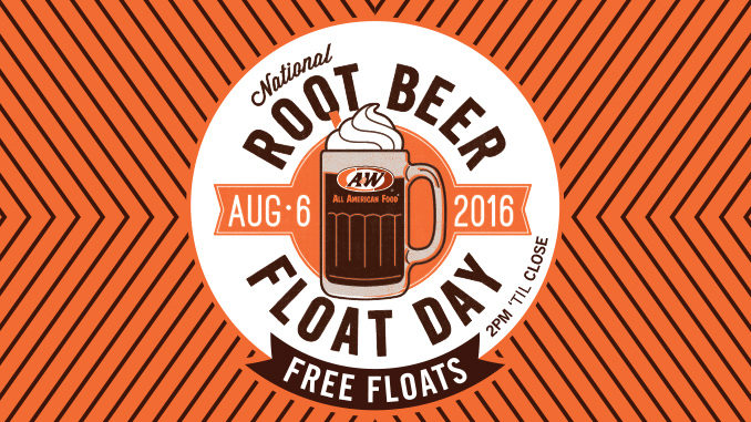 Free Root Beer Float at A&W on August 6, 2016
