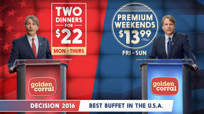 Golden Corral Launches New Decision 2016 Dinner Promotion