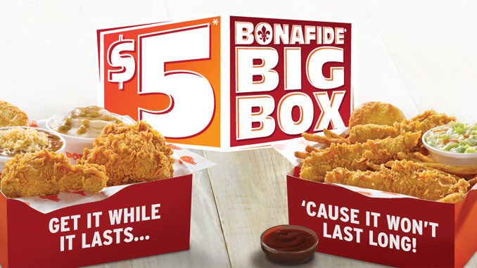 Popeyes Brings Back $5 Bonafide Big Box For Fall 2016