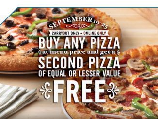 Buy One, Get One Free Pizza At Domino's Canada - September 19-25, 2016