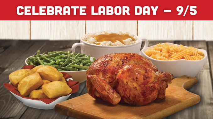 Get 25 Percent Off Any Family Meal At Boston Market On Labor Day, 2016