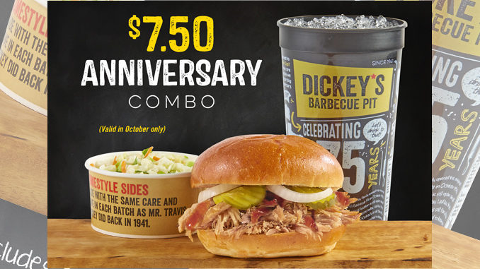 Dickey's Offers $7.50 Anniversary Combo Deal During October 2016