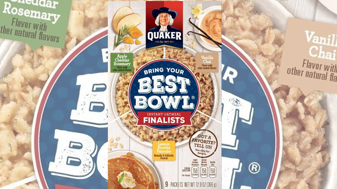 Quaker Bring Your Best Bowl Contest Finalist Flavors Revealed