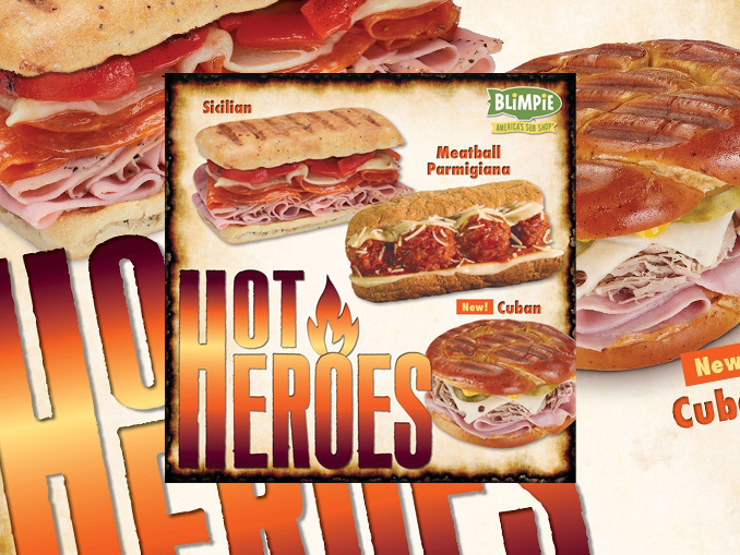Blimpie Introduces New Hearty Hot Hero Subs Chew Boom