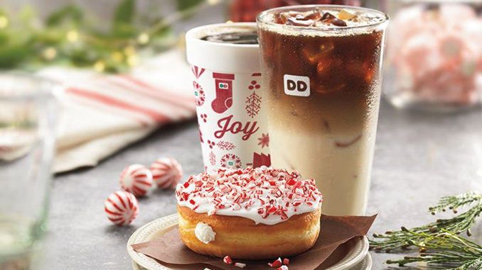 Dunkin' Donuts Debuts New Candy Cane Crunch Donut, Crème Brulée Macchiato
