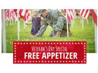 Free Appetizers For Veterans, Active Military At Ruby Tuesday On November 11, 2016