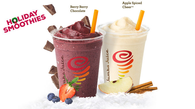 Jamba Juice Offers Two New 2016 Holiday Smoothies