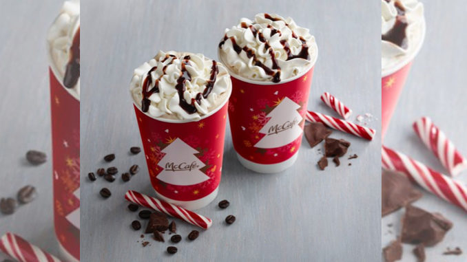 Peppermint Mochas Return To McDonald's For The 2016 Holiday Season