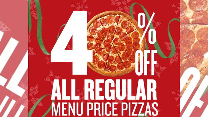 Get 40 Percent Off Pizza At Papa John's Through December 25, 2016