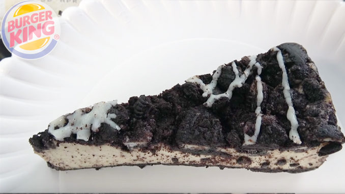 Review: Burger King's Oreo Cookie Cheesecake