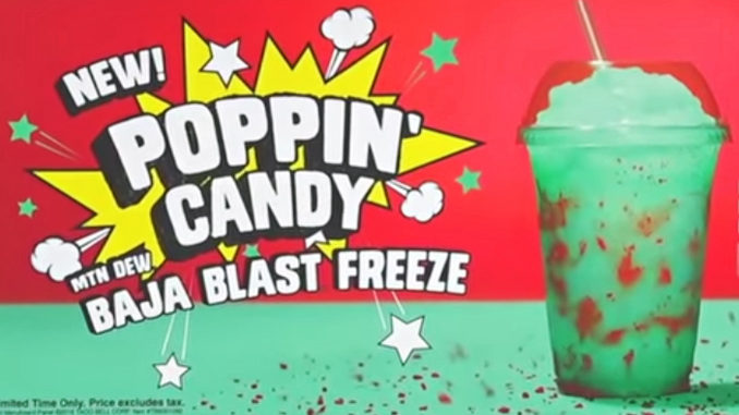 Taco Bell Poppin' Candy Mountain Dew Baja Blast Freeze Review