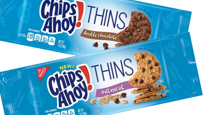 Chips Ahoy Thins Available In New Oatmeal And Double Chocolate Flavors