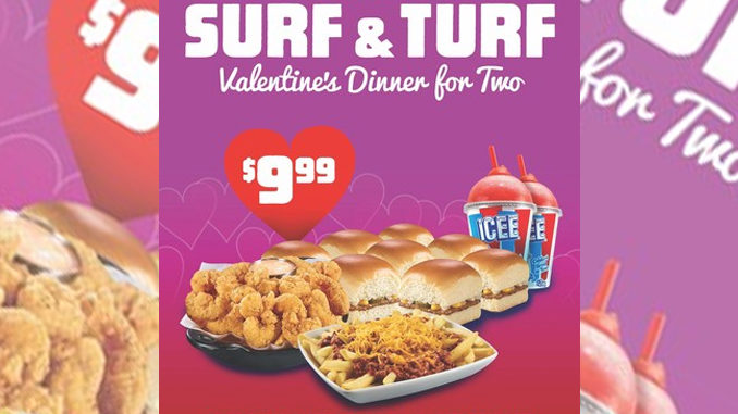 Krystal Offers $9.99 Surf And Turf Meal Deal For 2 On Valentine's Day
