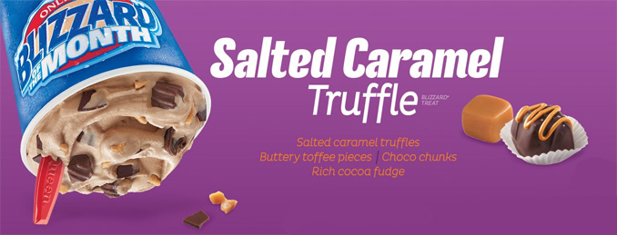 Salted Caramel Truffle Blizzard Treat