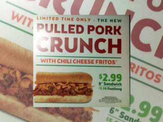 Subway Spotted Testing Pulled Pork Crunch Sub With Chili Cheese Fritos