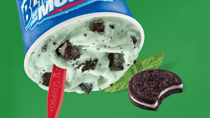 Dairy Queen Blizzard Of The Month For March 2017 Is Mint Oreo