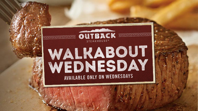 Outback Introduces $9.99 Walkabout Wednesday Meal Deal