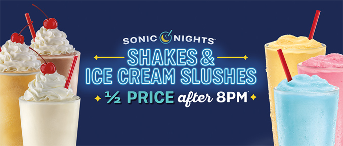 Half price shakes after 8