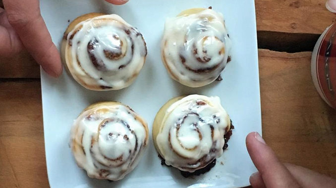 Free Sleeve Of BonBites At Cinnabon On April 10, 2017