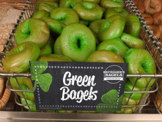 Green Bagels Return To Bruegger's For St. Patrick's Day 2017
