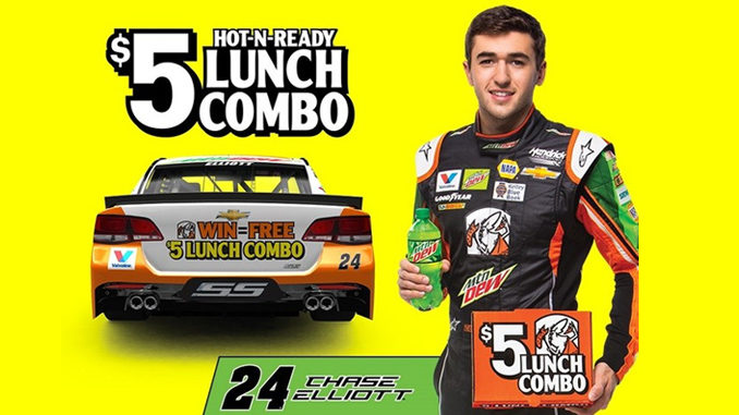 Free $5 Lunch Combo AT Little Caesars If Chase Elliott Wins In Bristol On April 23, 2017