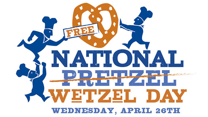 Free Pretzels At Wetzel's Pretzels On April 26, 2017