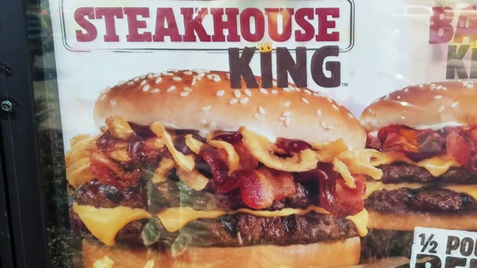 New Steakhouse King Sandwich Spotted At Burger