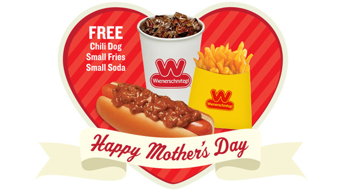 Moms Eat Free At Wienerschnitzel On May 14, 2017