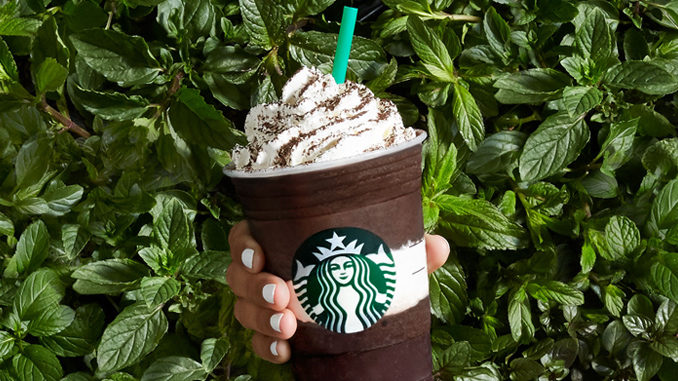 Starbucks Debuts New Midnight Mint Mocha Frappuccino