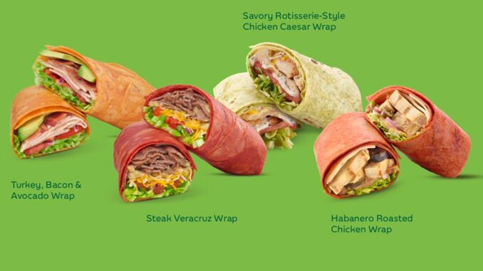 Subway Spotted Serving Up New Signature Wraps