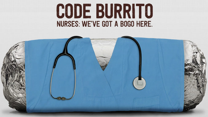 Buy One, Get One Free Offer For Nurses At Chipotle On June 14, 2017