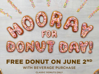 Dunkin' Donuts Offers Free Donut With Any Drink Purchase On June 2, 2017